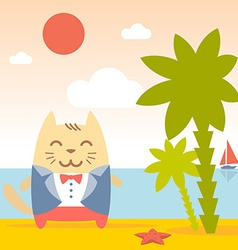 Character groom in a wedding suit colorful flat vector image vector image