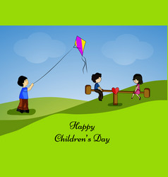 Childrens day background vector
