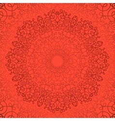 Circle Lace Ornament Geometric Doily Pattern vector image