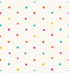 colorful irregular polka dots seamless vector image