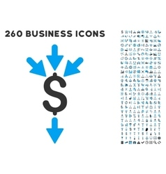 Combine Payments Icon with Flat Set vector
