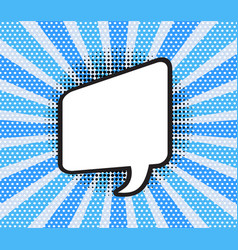 comic speech bubble of talk vector image