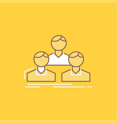 company employee group people team flat line vector image