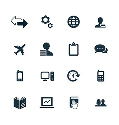 Company icons set vector