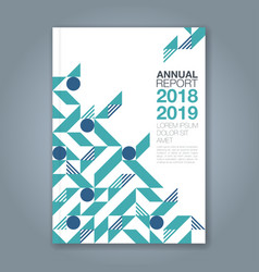 cover annual report 1086 vector image