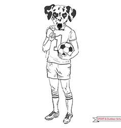 Dalmatian football player sport and outdoor vector