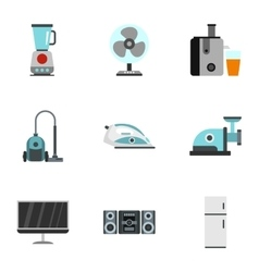 Devices for home icons set flat style vector