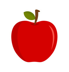 eco fresh red apple icon flat style vector image