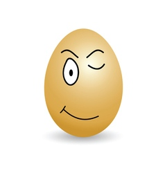 egg with big eyes cartoon vector image