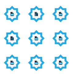 file icons colored set with file html file gif vector image