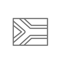 Flag south africa line icon vector
