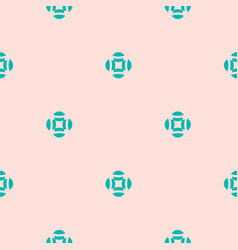 floral seamless pattern simple pink and turquoise vector image