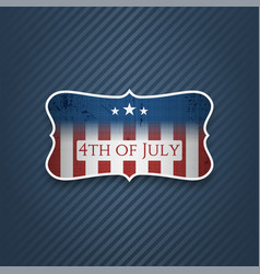 Fourth of july realistic label vector