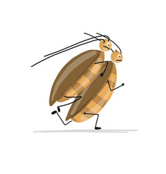 Funny cockroaches for your design vector