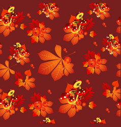 funny texture autumn leaves chestnut leaves vector image