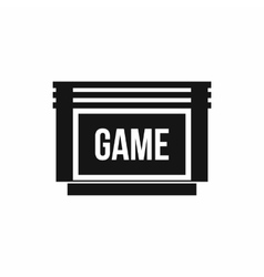 Game cartridge icon simple style vector