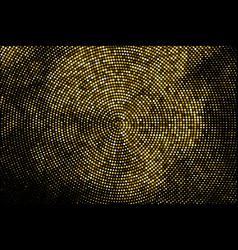 Gold glitter halftone dotted backdrop vector
