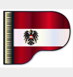 Grand piano austrian flag vector
