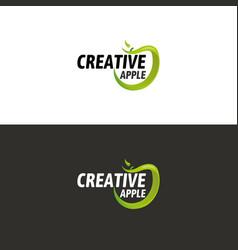 green apple logo vector image