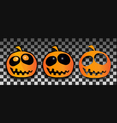 halloween pumpkins template set pumpkin with vector image