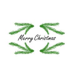 hand drawing christmas tree vector image