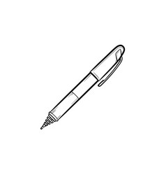 handwriting pen hand drawn outline doodle icon vector image