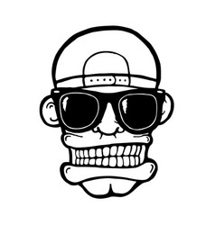 Hip hop face vector