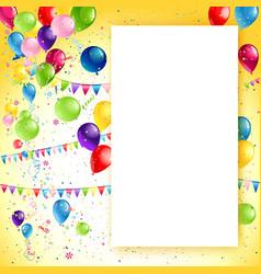 Holiday birthday frame vector