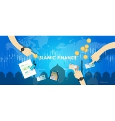 Islamic finance economy islam banking money vector