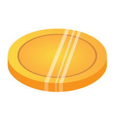 isolated golden coin vector image