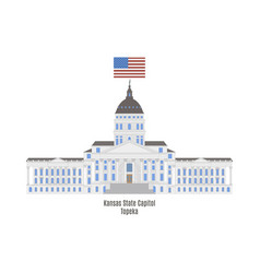 kansas state capitol vector image