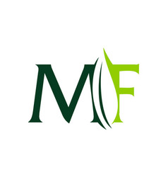 Letter mf leaf vector