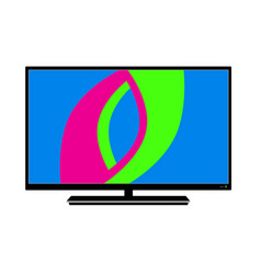 logo lcd tv in on white background vector image