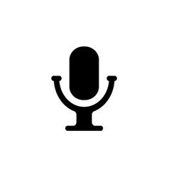 microphone icon black vector image