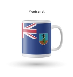 Montserrat flag souvenir mug on white background vector