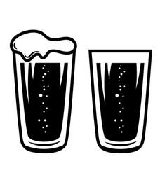 mug beer in engraving style design element vector image