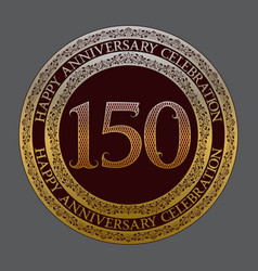 one hundred fiftieth anniversary celebration logo vector image