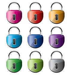 padlocks vector image