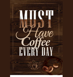 Poster Grain coffee 2 vector image