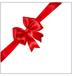 Red bow with diagonally ribbon vector