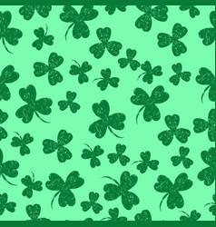 saint patricks day green background shamrock vector image