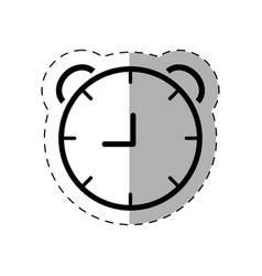 school clock thin line vector image