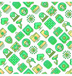 security and protection seamless pattern vector image
