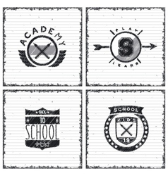 Set of school emblems vector image