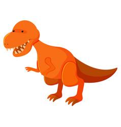 Single picture tyrannosaurus rex in orange vector