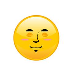 Sleeping emoji isolated asleep yellow circle vector