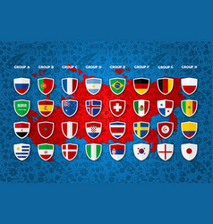soccer event country group template design vector image