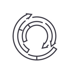 Spiral diagram line icon sign vector