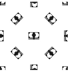 Swiss franc banknote pattern seamless black vector