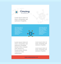 template layout for global network comany profile vector image